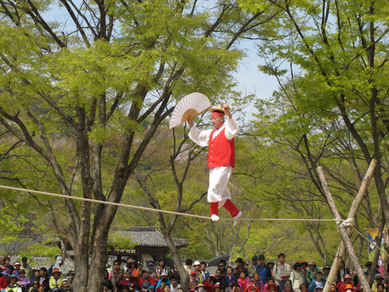 'Acrobatics on a Tightrope walking' at Performance Area